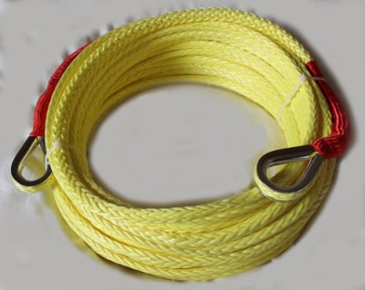 Synthetic dyneema winch rope for warn and runva winches